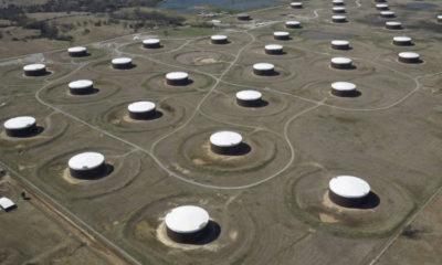 Oil nudges down but secures weekly gain on recovery hopes