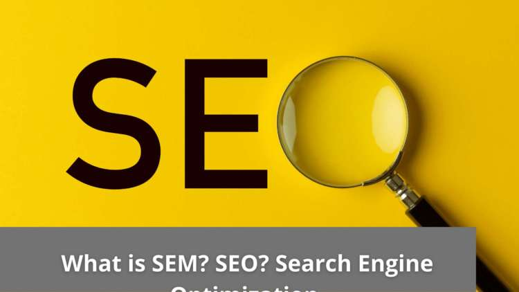 What is SEM? SEO? Search Engine Optimization 1