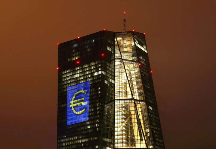 """ECB projects brighter outlook but keeps """"steady hand"""" on stimulus 1"""