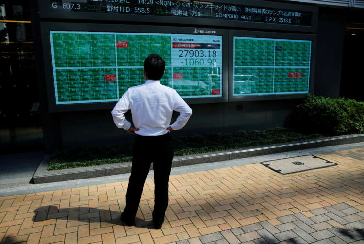 Stocks bounce from four-week lows, dollar pulls back 1