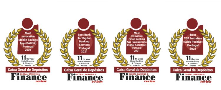 Caixa Geral de Depósitos wins prestigious awards in the 2021 Global Banking & Finance Awards® 1