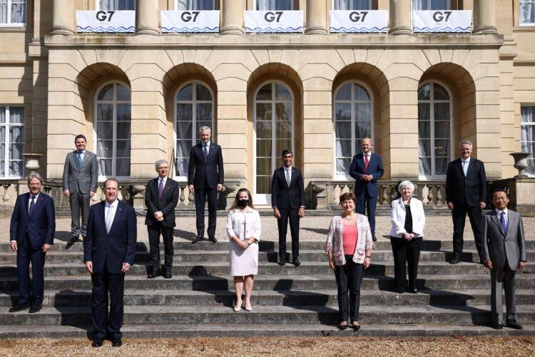 G7 finance ministers agree global minimum tax of at least 15% 1