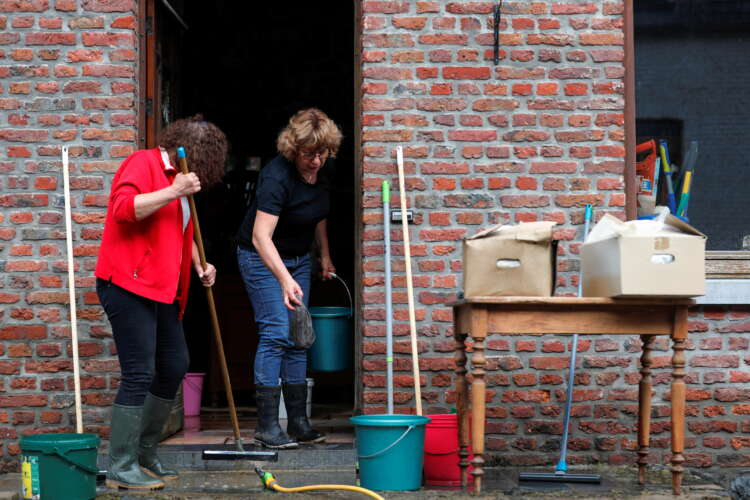 Cars, pavements washed away as Belgian town hit by worst floods in decades 1