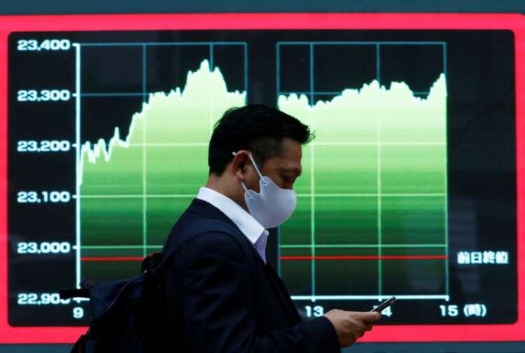Asian shares fall again, dollar drifts 1