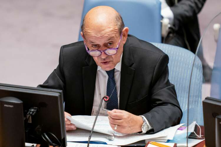 France's Le Drian says restoring confidence with U.S. will require time 1