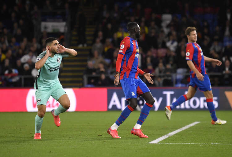 Soccer-Brighton earn last-gasp draw at Palace but denied top spot 1
